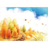가을배경현수막(기찻길)-264 ( 200 x 140 )