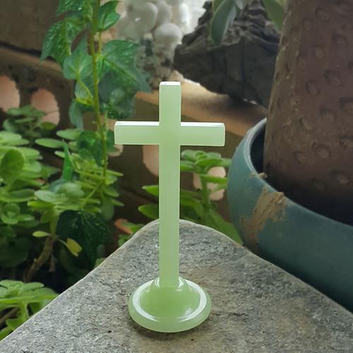 복음-야광탁상십자가(소)/바닥양면스티커부착