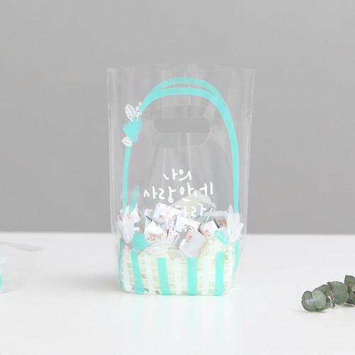 패키징 선물포장 비닐백(소) 02.민트(10매)