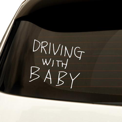 자동차스티커 심플 Driving with baby 3