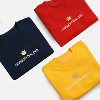 갓피플 맨투맨 티셔츠 - 킹덤빌더 : 하나님나라를 세워가는 사람 (아동용_특양면)