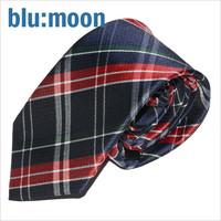 [blu:moon] 블루문넥타이 - 데일리체크 레드 8cm