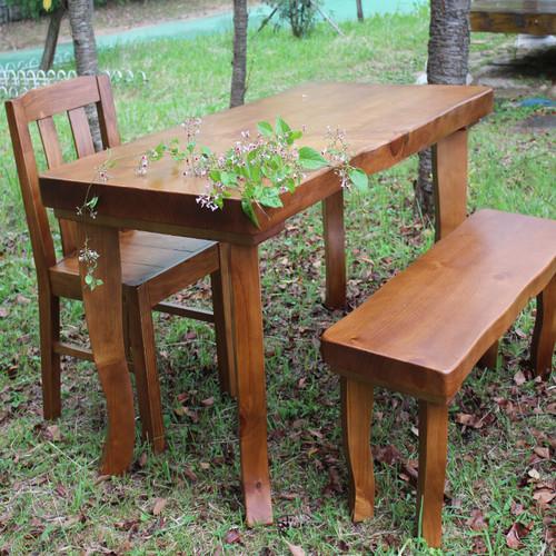 소나무 식탁 책상 테이블