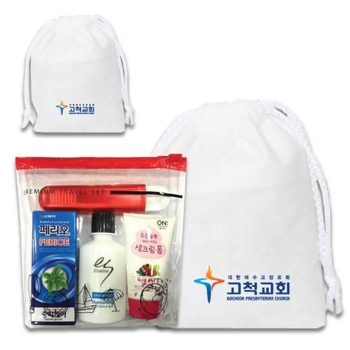 (부직포가방,무료인쇄) LG 여행용 4종 1호