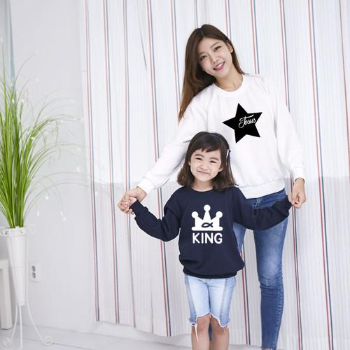 고급 특양면 맨투맨 티셔츠_아트디자인(3종)(아동)