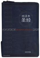 중국어 톰슨 주석성경 대단본 (간체자/색인/지퍼/이태리신소재/청색)