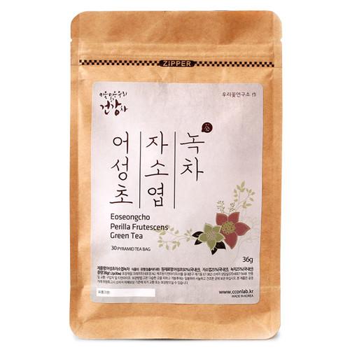 어성초,자소엽,녹차 (1.2gx30삼각티백)