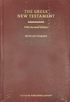 UBS5 Greek New Testament with Dictionary