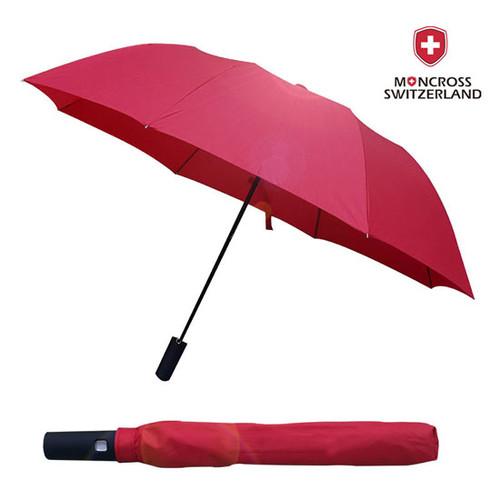 몽크로스 2단 레드 솔리드 우산
