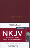 NKJV: Reference Bible, Personal Size, Giant Print (Imitation Leather, Burgundy)
