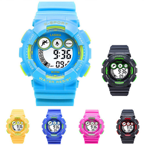 전자 손목시계  10색상 30M 방수 W-F84 (S 사이즈)
