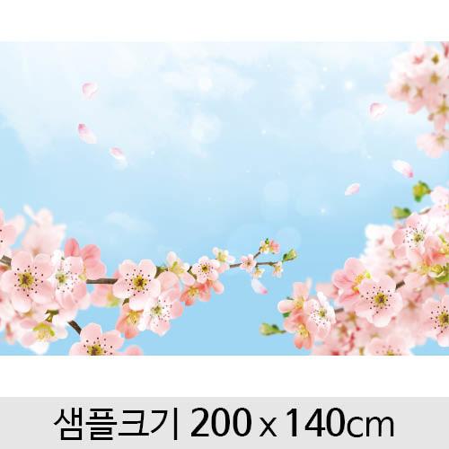 봄배경현수막(벚꽃)-117 (200 x 140)