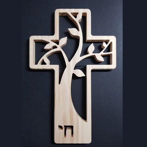 원목 벽걸이 생명나무 십자가