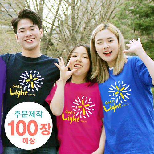 [주문제작 더워드티셔츠] Light (아동,성인용 100장이상)