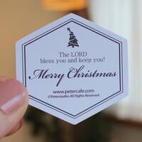 Clsssic Simple 크리스마스 스티커10개-라벤더-피터카페