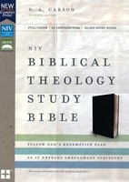 NIV: Biblical Theology Study Bible, Comfort Print (Bonded Leather, Black) (Previously published as NIV Zondervan Study Bible) 가죽