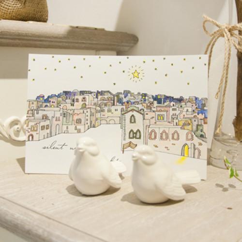 하베스터 크리스마스 카드 - 홀리나이트 (DIY 컬러링 카드)
