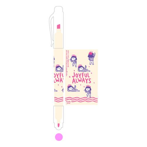 그레이스벨 헬로제인 양면형광펜 04.Pink