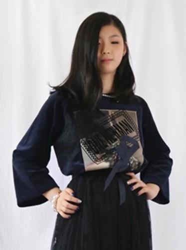 벨벳원뉴맨 7부티셔츠