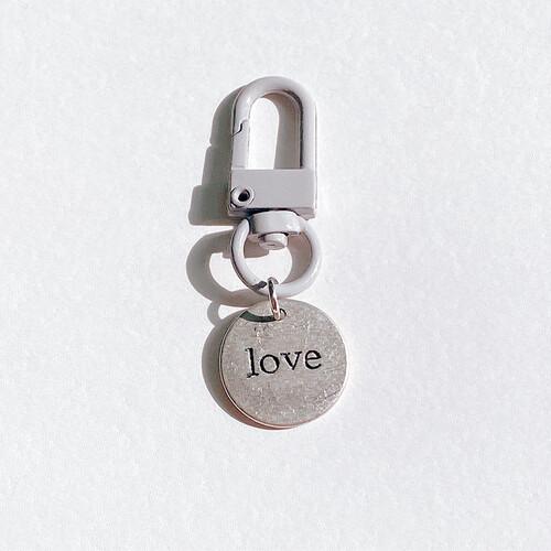 [프롬구원] Gray Silver Love vintage , 키링