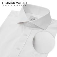 [THOMAS VAILEY] 토마스 베일리 남성드레스셔츠 트윌 화이트 와이드카라 클래식핏 1THTHA4MSU110