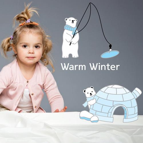 [포인트스티커] KR-0034 북극곰가족/겨울 인테리어,크리스마스,트리,눈사람,구슬,루돌프,선물