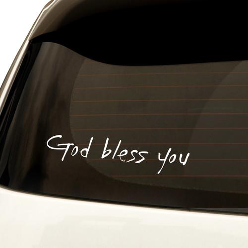 자동차스티커 시크 God bless you