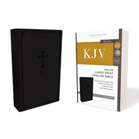 KJV: Value Thinline Bible, Large Print, Black, Red Letter Ed, Comfort Print (Leathersoft)