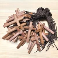 향나무 십자가 목걸이(大) - 단체용