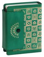 나만의 성경 마이 바이블 미니 단본(색인/단추식/통가죽/초록)-수공예 통가죽 성경