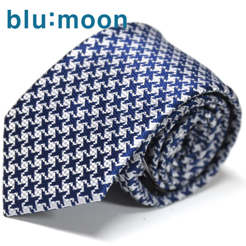 [blu:moon] 블루문넥타이 - 슬림빅하운드 네이비 7cm