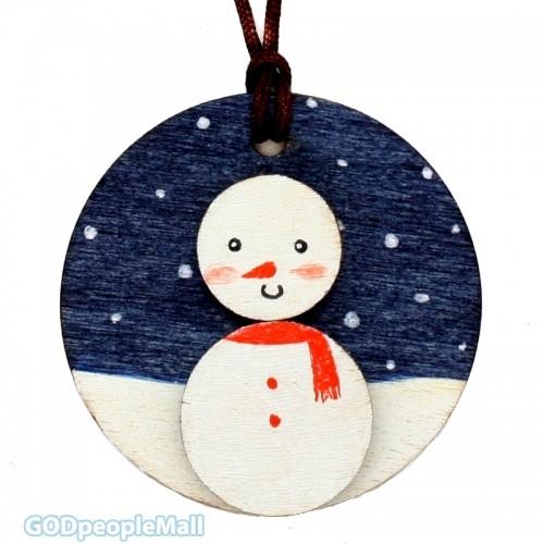 new나무목걸이만들기-눈사람