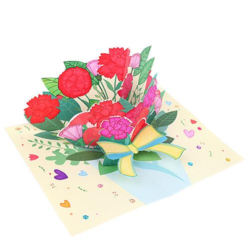 [만들기패키지] 카네이션 꽃다발 팝업카드