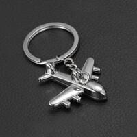 비행기 금속 키링 키홀더 열쇠고리