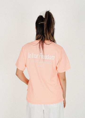 IN YOUR FREEDOM T-shirts (peach)