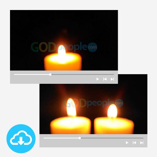 대림절/성탄절 촛불영상 세트 1 by 니카 /  이메일 발송(파일)