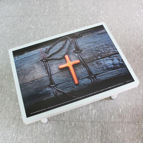 디자인 교체가능한 갓피플예배상 (화이트/플라스틱다리)