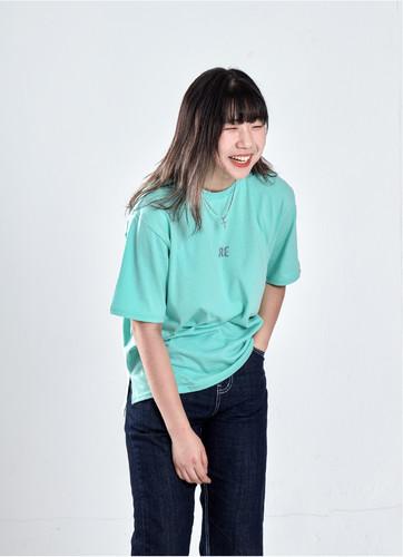 프리덤 프린팅 티셔츠 (민트)