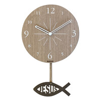 [물고기 추 우드시계] 디자인시계(JKE20)-하기오스