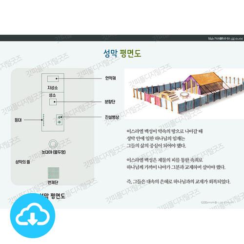 성경 인포그래픽 30 성막 평면도 by 규장굿즈 / 이메일발송(파일)