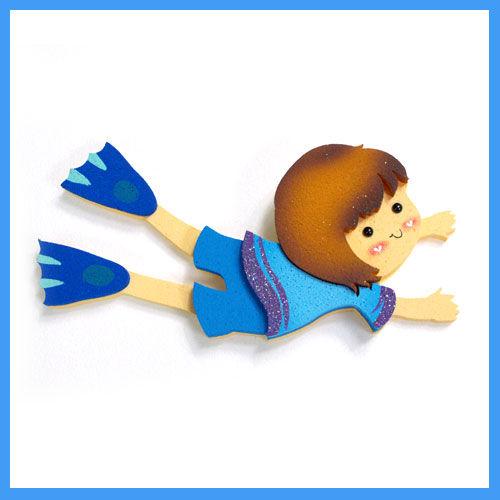 프뉴마폼아트 환경꾸미기 - 수영하는 남자아이