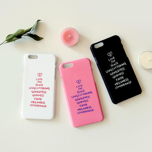 성령의 9가지 열매 핸드폰케이스(화이트/핑크/블랙)