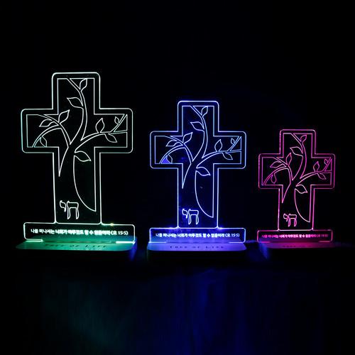 LED 십자가 기도등
