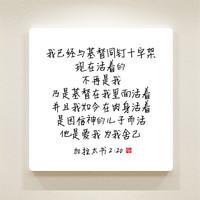 순수캘리 중국어말씀액자 - CSA0018 갈라디아서 2장 20절