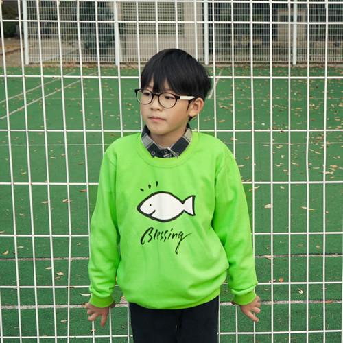 [2020글로리월드] 블레씽 맨투맨 티셔츠 - 소프트 그린