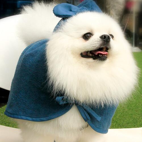 반려동물 강아지 목욕가운 타월가운