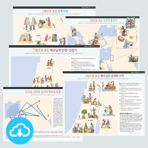 성경 인포그래픽 통합세트 2 (6종 / 51~56번) by 규장굿즈 / 이메일발송(파일)