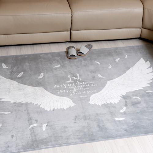 [말씀러그]독수리날개치며_사각(한평200x150)