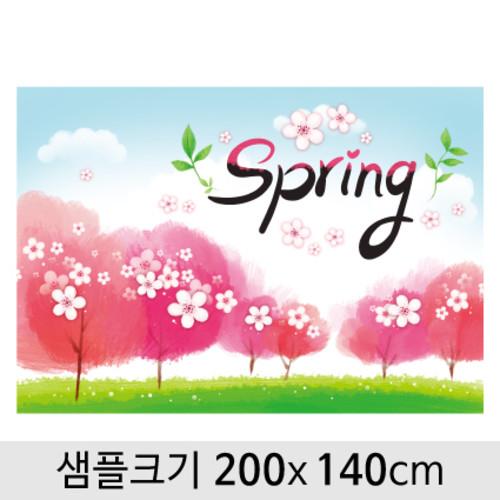 봄배경현수막(벚꽃)-101 ( 200 x 140 )