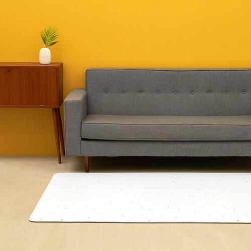 [안탈로 디자인 매트] 양면 PVC바닥매트 화이트테라조 크림솔리드